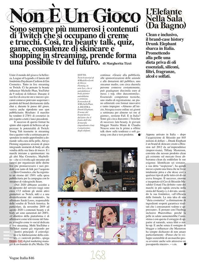 Articolo Vogue sito
